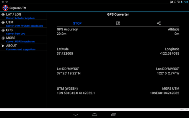 Coordinate Converter Plus screenshot 9