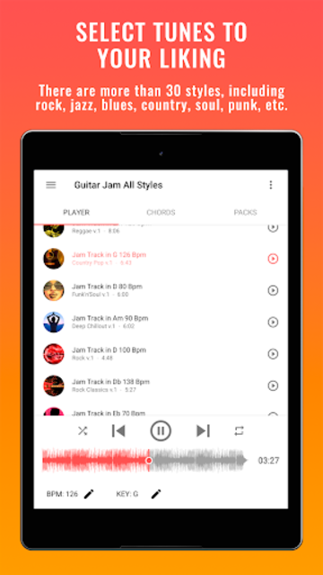 Backing Tracks Guitar Jam screenshot 9