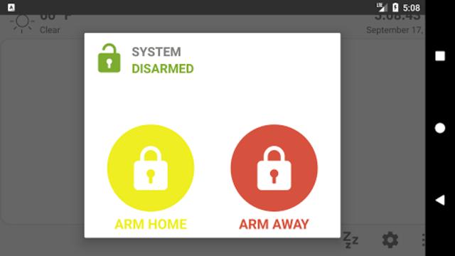 MQTT Alarm Control Panel screenshot 2