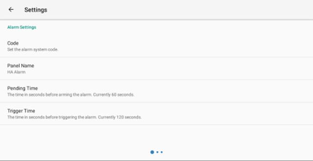 MQTT Alarm Control Panel screenshot 14