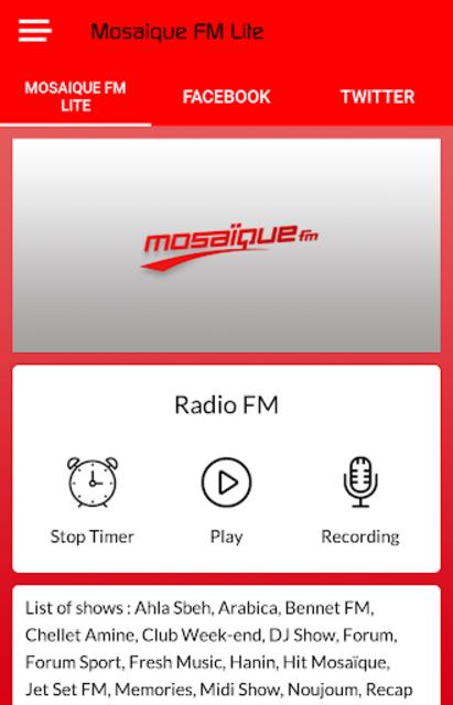 Mosaique FM Lite screenshot 2