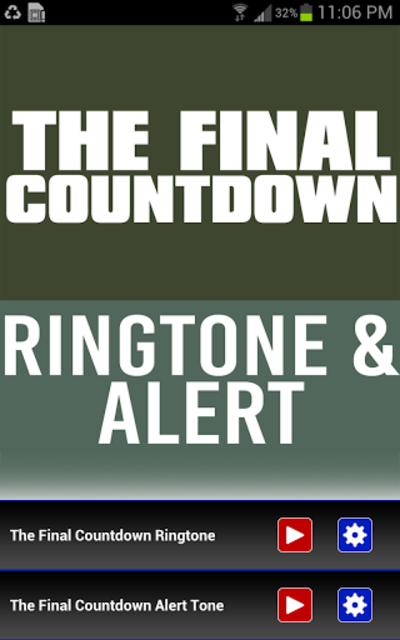 The Final Countdown Ringtone screenshot 1