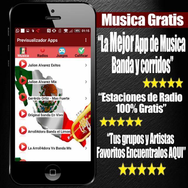 Musica Banda y Corridos Gratis screenshot 8