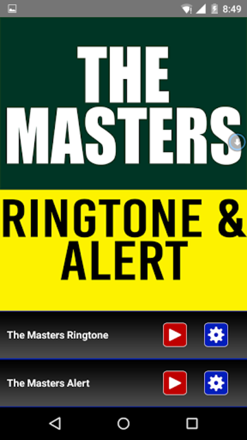 The Masters Theme Ringtone screenshot 1