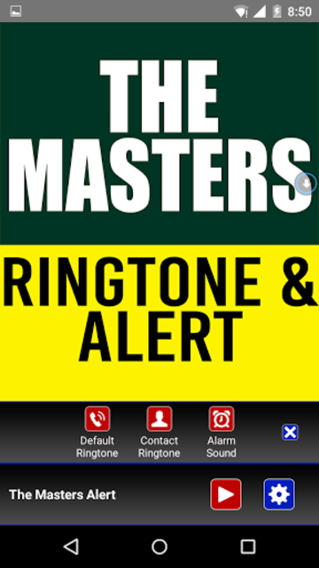 The Masters Theme Ringtone screenshot 2