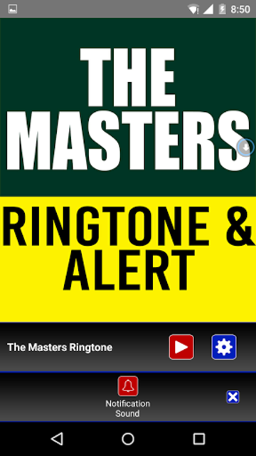 The Masters Theme Ringtone screenshot 3