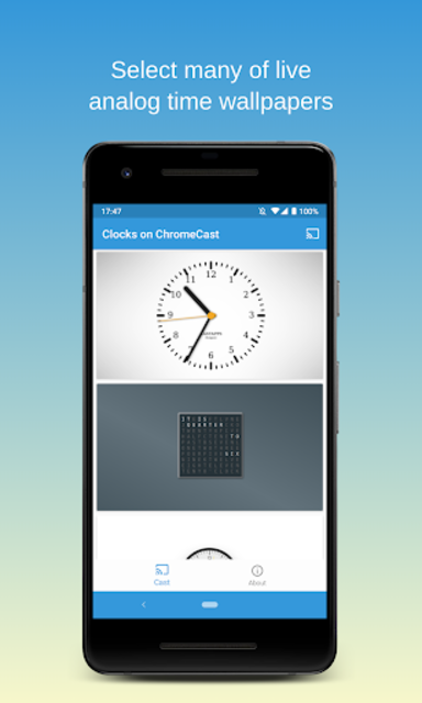 Clocks on Chromecast|⏰ Clock display widget for TV screenshot 4