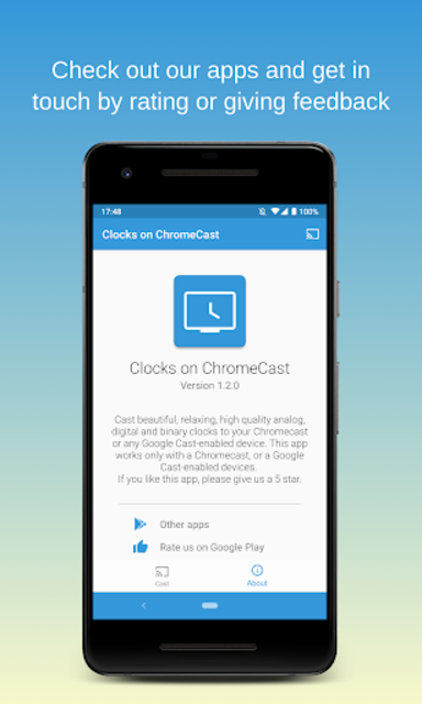 Clocks on Chromecast|⏰ Clock display widget for TV screenshot 7