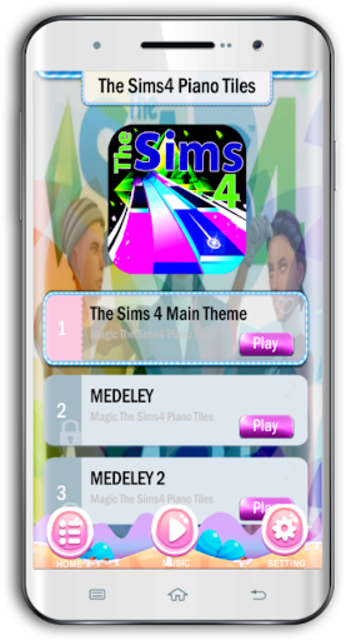 Magic The Sims4 Piano Tiles screenshot 1
