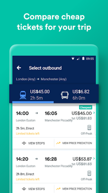 Trainline:  Europe's leading train and coach app screenshot 2