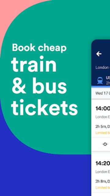 Trainline - Buy cheap European train & bus tickets screenshot 1