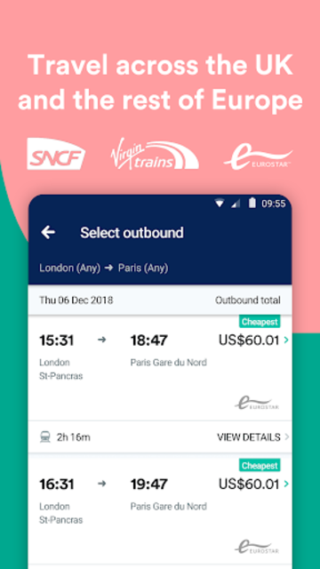Trainline - Buy cheap European train & bus tickets screenshot 3