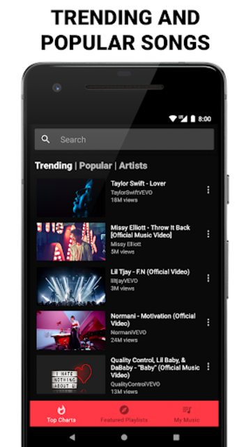Free Music & Videos - Music Player for YouTube screenshot 1