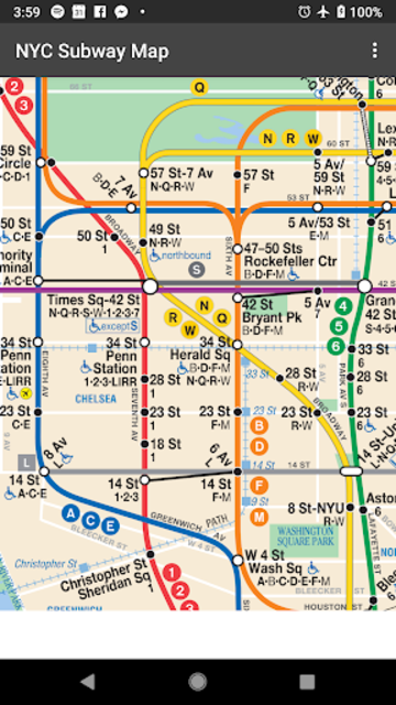 Map of NYC Subway: offline MTA – Ad Free! screenshot 2