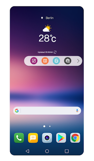 Floating Bar LG V30 screenshot 1