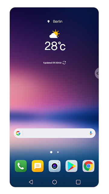 Floating Bar LG V30 screenshot 2