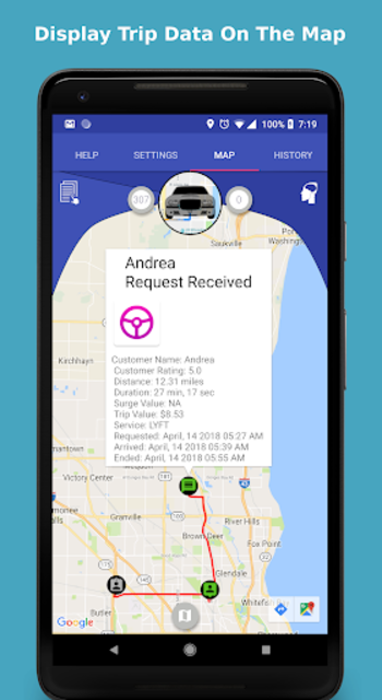 Ride Companion for Uber and Lyft Drivers screenshot 1