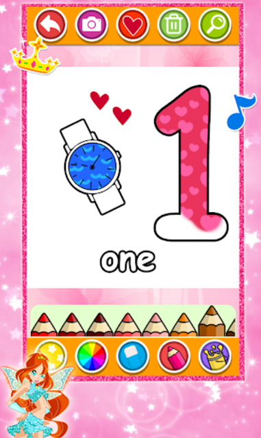 Glitter Number and letters Coloring for kids screenshot 1