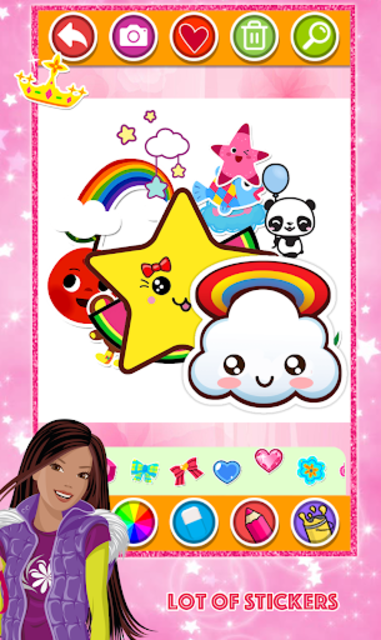 Glitter Number and letters Coloring for kids screenshot 6