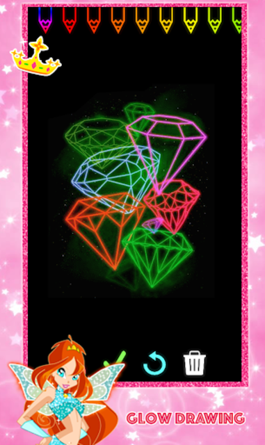 Glitter Number and letters Coloring for kids screenshot 7