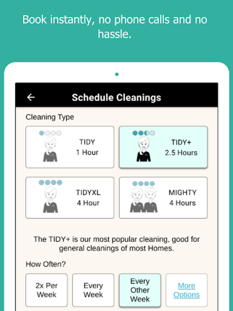 TIDY - Home Cleanings screenshot 1