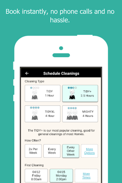 TIDY - Home Cleanings screenshot 6