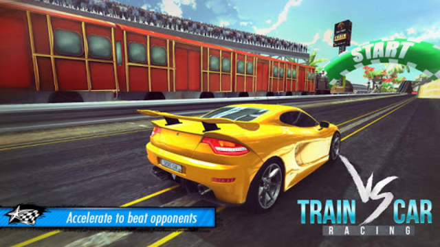 Train vs Car Racing 3D screenshot 1