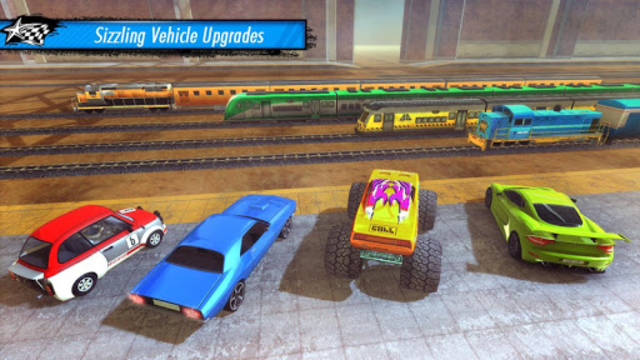 Train vs Car Racing 3D screenshot 2