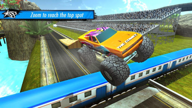 Train vs Car Racing 3D screenshot 3