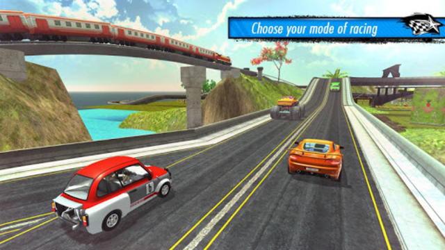Train vs Car Racing 3D screenshot 12