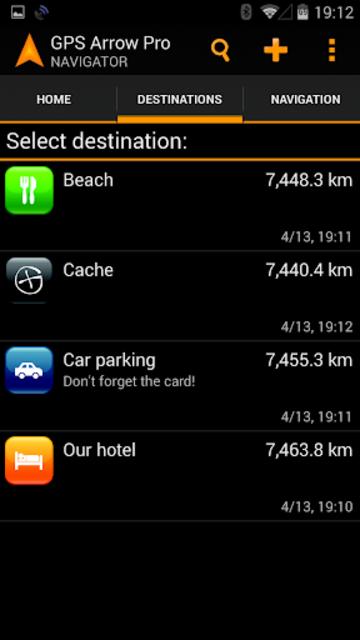 GPS Arrow Navigator PRO screenshot 2