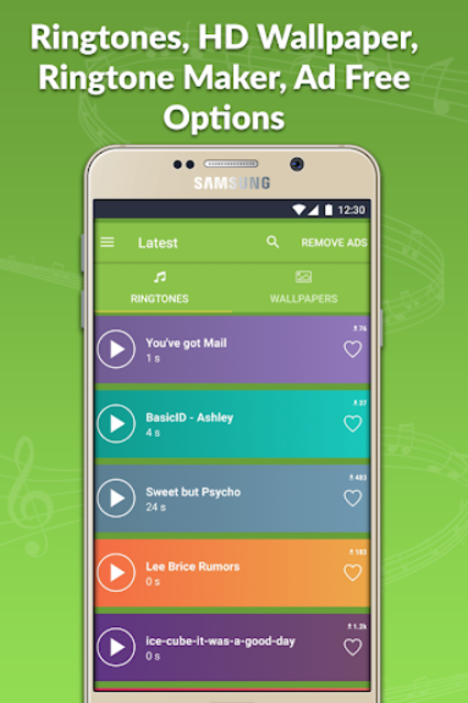 Today's Hit Ringtones Pro Free Ringtones Wallpaper screenshot 1