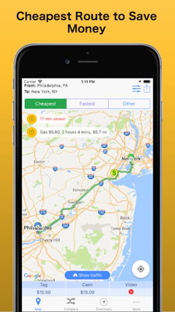 Trip & Toll Calculator - car truck Free | Tollguru screenshot 1