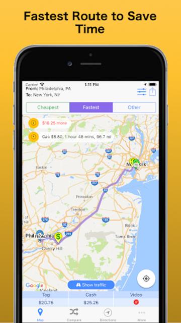 Trip & Toll Calculator - car truck Free | Tollguru screenshot 3