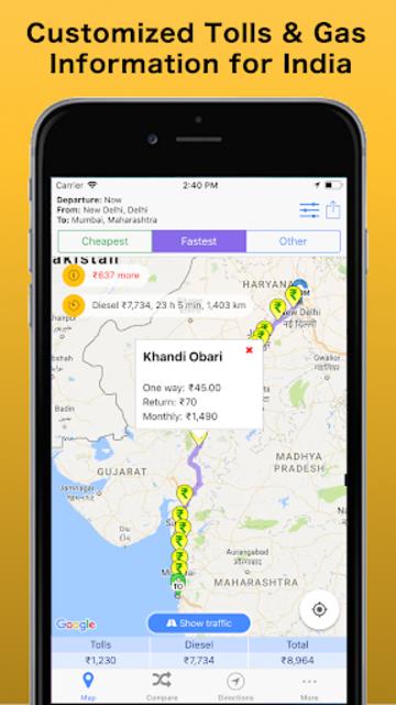Trip & Toll Calculator - car truck Free | Tollguru screenshot 7