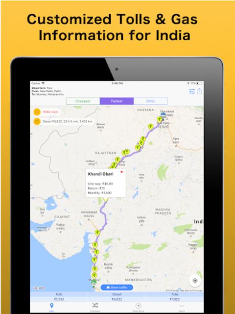 Trip & Toll Calculator - car truck Free | Tollguru screenshot 19