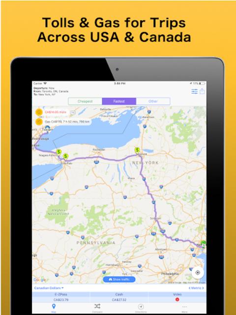 Trip & Toll Calculator - car truck Free | Tollguru screenshot 20