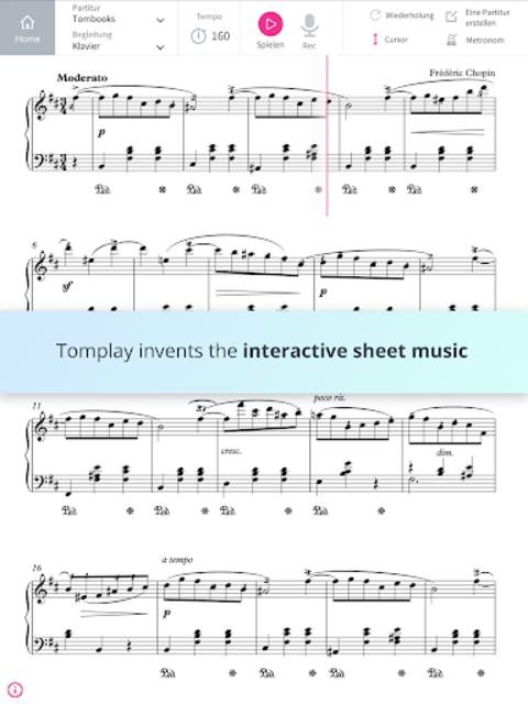 Tomplay Sheet Music screenshot 1