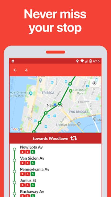 New York Transit •MTA Bus Times & Subway Maps screenshot 4