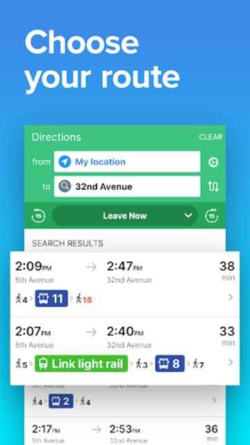 Seattle Transit • Sound Transit bus & train times screenshot 2