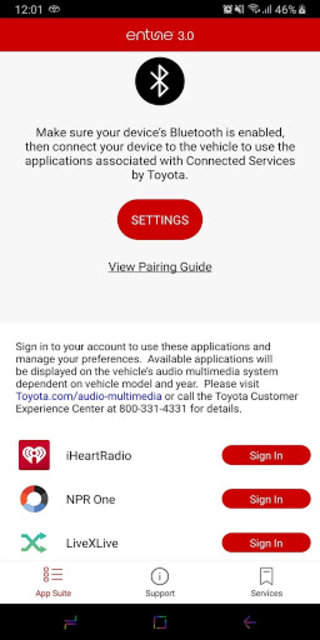 Entune™ 3.0 App Suite Connect screenshot 2