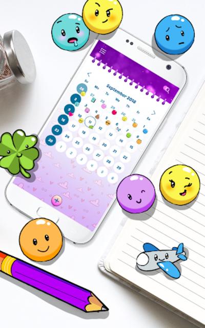 Purple Diary with Lock screenshot 6