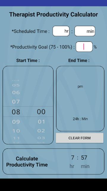 #1 Therapy Rehab Productivity Calculator screenshot 1