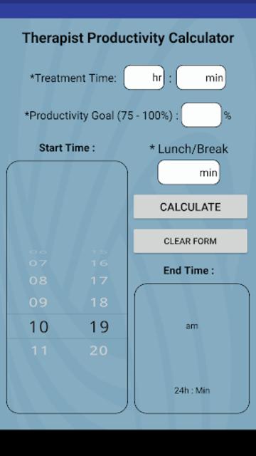 #1 Therapy Rehab Productivity Calculator screenshot 2