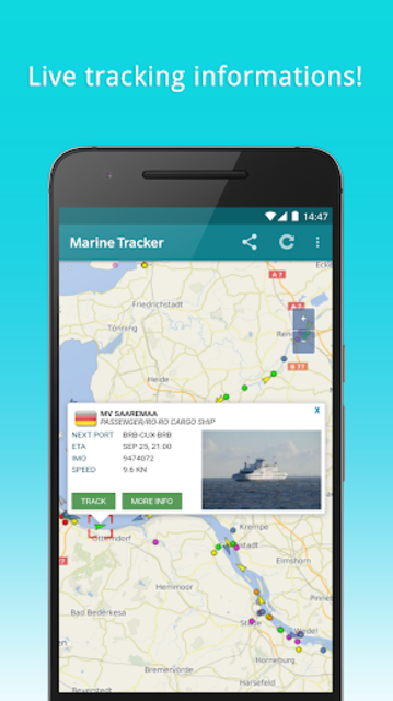 Marine Tracker - Maritime traffic - Ship radar screenshot 3