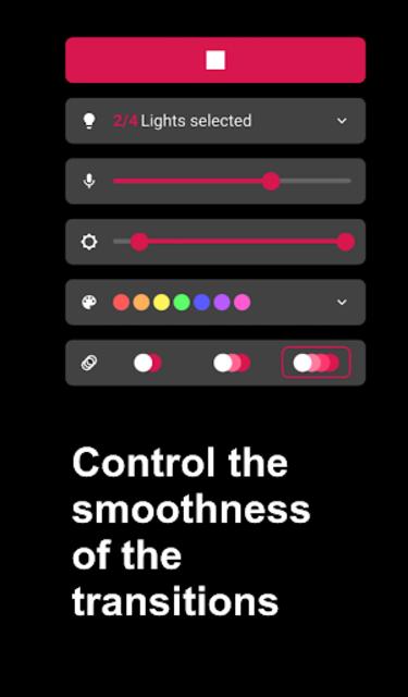Hue Melodi - Philips Hue lights dancing to music screenshot 4