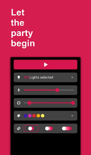 Hue Melodi - Philips Hue lights dancing to music screenshot 5