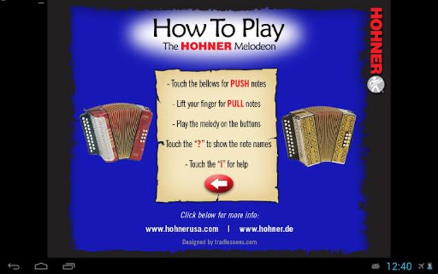 Hohner G/C Button Accordion screenshot 2