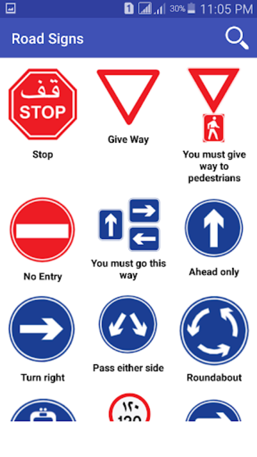 Road Signs & Driving Rules screenshot 1