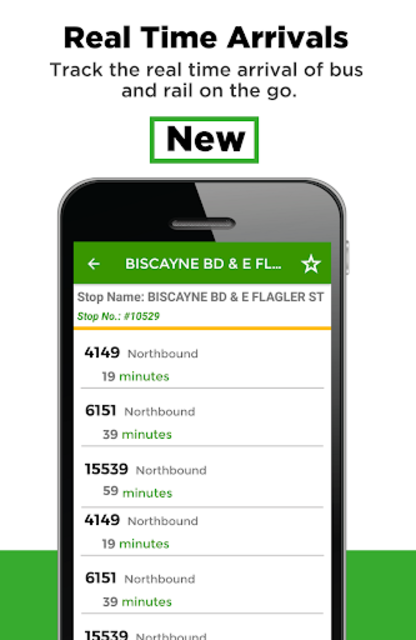 Miami Transit App - Bus, Mover and Rail Tracker screenshot 1
